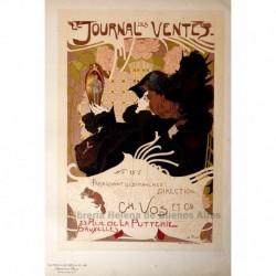 """Afiche para el """"Journal des Ventes"""", publicado en Bruselas."""