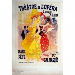 "Afiche para los ""Bals de l'Opéra en 1899""."