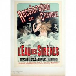 """Afiche para el """"Eau des sirénes""""."""