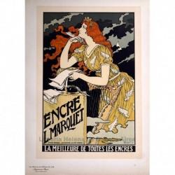 """Afiche para la """"Encre Marquet"""" (tinta)"""
