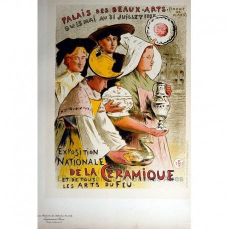 """Afiche para la """"Exposición Nacional de la Cerámica y de todas las artes del fuego"""""""