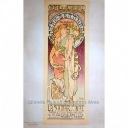 """Afiche para el Théâtre de la Renaissance """"La Samaritaine"""" (con Sarah Bernhardt)"""