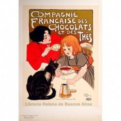 "Afiche para el ""Chocolat de la Compagnie Française"""