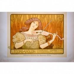 Afiche para clases de violín.