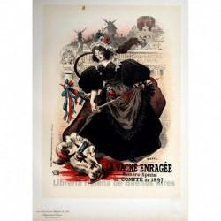 """Afiche para la el desfile """"Vache enragée"""" de Montmartre."""