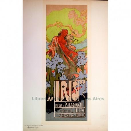 """Afiche italiano para la Opéra-comique """"Iris"""""""