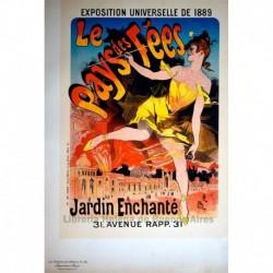 """Afiche para la Exposición Universal de 1889 """"Le Pays des Fées"""""""