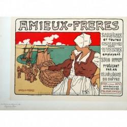 "Afiche para las ""Sardinas Amieux"""