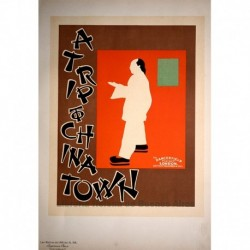"Afiche inglés ""A trip to china town"""