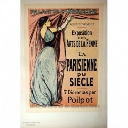 """Afiche para la Exposition des Arts de la Femme """"La Parisienne du Siécle"""""""