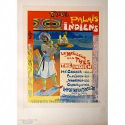 """Afiche para los """"Thés du Palais Indien"""""""