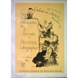 Afiche para la Primera exposición de pintores litográficos en la Galería de Artistas Modernos (1897)