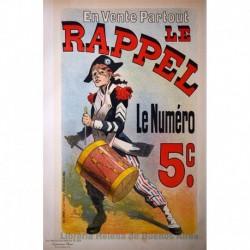 """Afiche para el diario """"Le Rappel"""""""