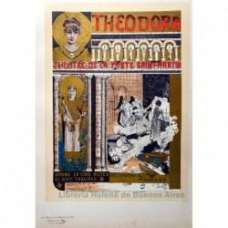 "Afiche pare el teatro de la Porte-Saint-Martin, ""Théodora"""