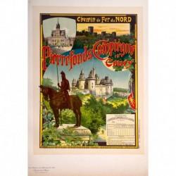 """Afiche para la Compaía de Ferrocarriles del Norte: """"Pierrefonds"""""""