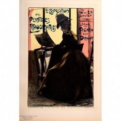 """Afiche para la """"Segunda Exposición de Pintores Litográficos"""" (1899)"""