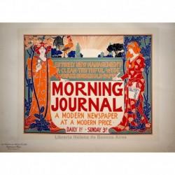 "Afiche estadounidense para el ""Morning Journal"""