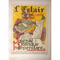 """Afiche para el diario """"l'Éclair"""""""