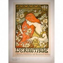 """Afiche para la revista literaria """"l'Ermitage"""""""