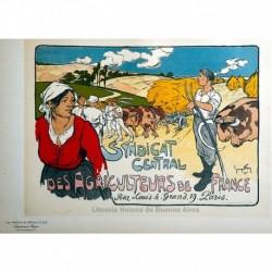 Afiche para el Sindicato central de los Agricultores de Francia.