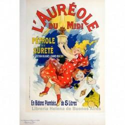 """Afiche para el """"Auréole du Midi"""" (combustible para lámparas)"""