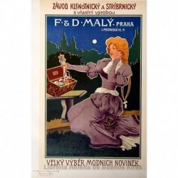 Afiche proveniente del Imperio austrohúngaro para una joyería.