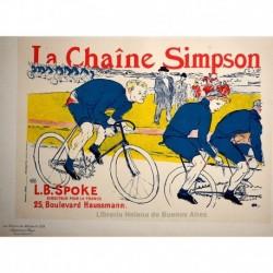 """Afiche para la """"Chaine Simpson"""" (cadena especial para bicicletas de carreras)"""