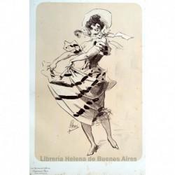 Diseño original para Les Maîtres de l'Affiche. (La danza)
