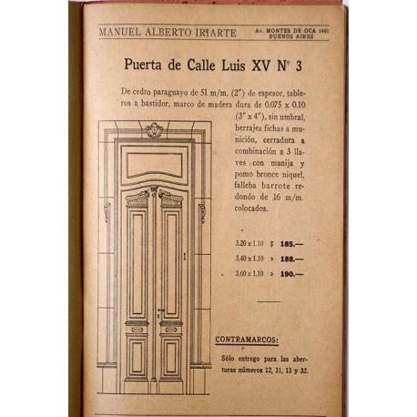 Catálogo de la casa Manuel Alberto Iriarte.