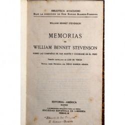 Memorias de William Bennet Stevenson sobre las campañas de San Martín y Cochrane en el Perú.