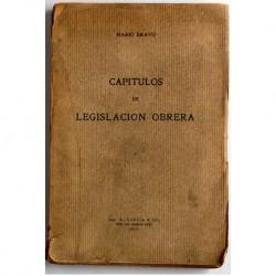 Capítulos de legislación obrera.
