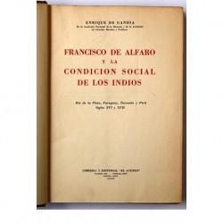 Francisco de Alfaro y la condicion social de los indios