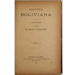 Biblioteca Boliviana. Catálogo del archivo de Mojos y Chiquitos.